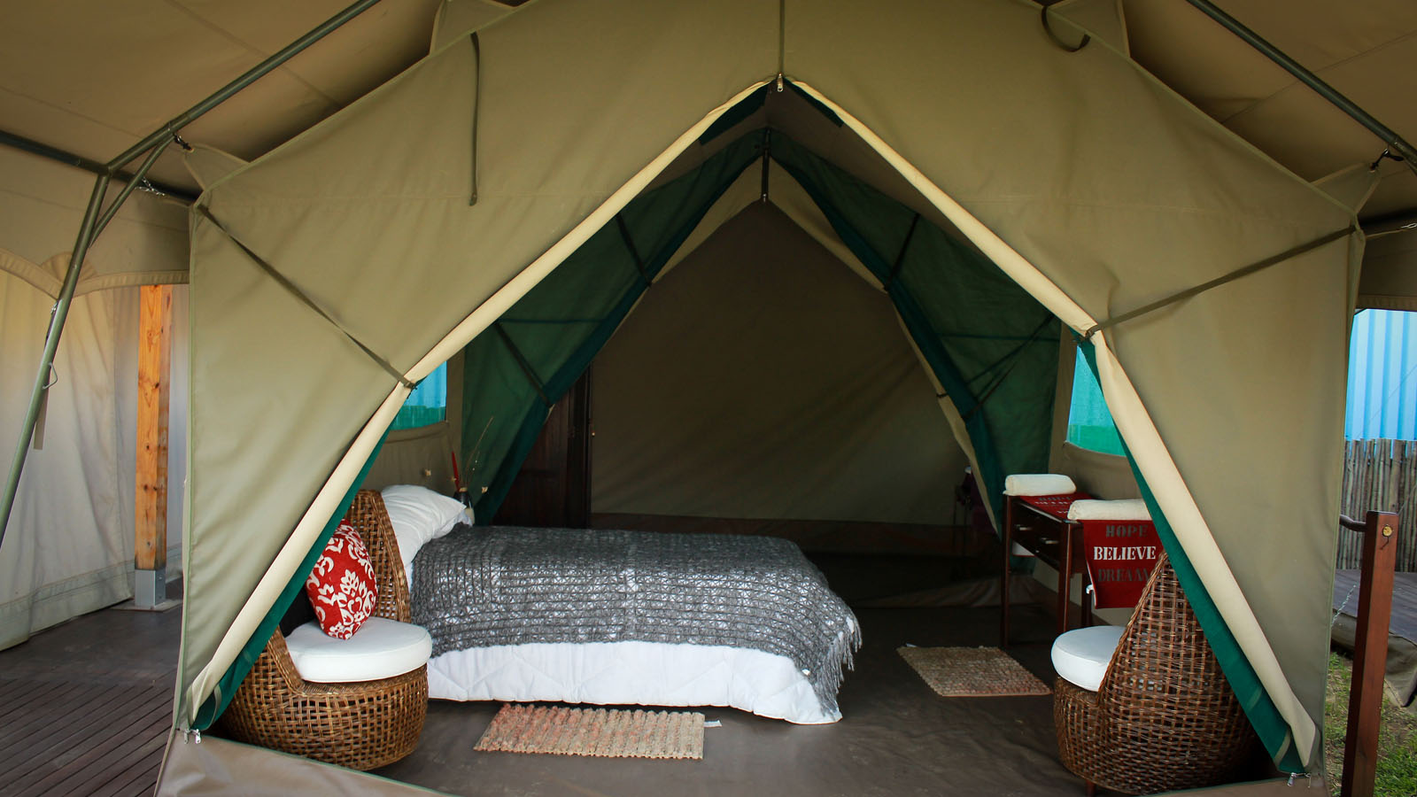 Luxury Tent Bedroom