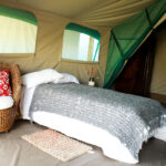 Bedroom in a tent