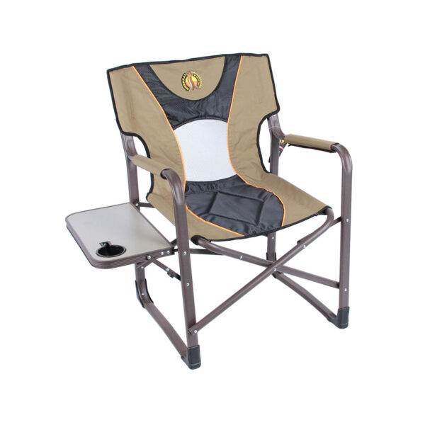 Camp chair with table and cup holder