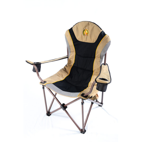 Folding camp chair with cupholders