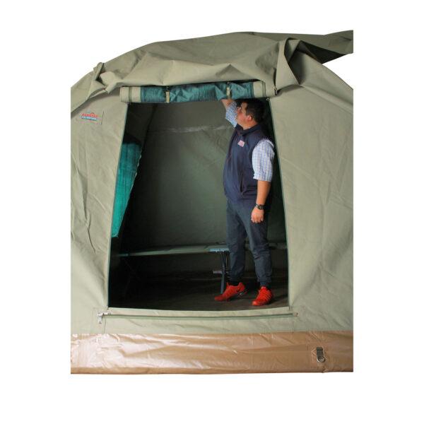 Alpha Kilo Tent Rolled Up Door