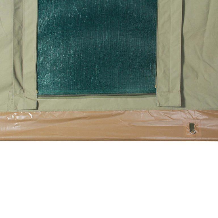 Mosquito net and PVC floor