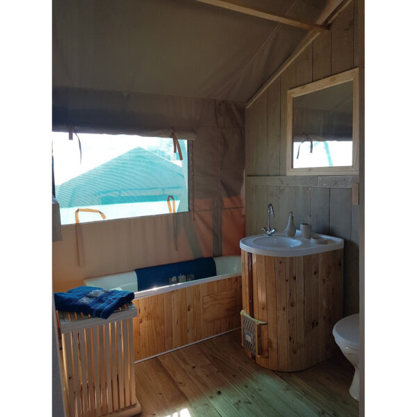 Bathroom in tent